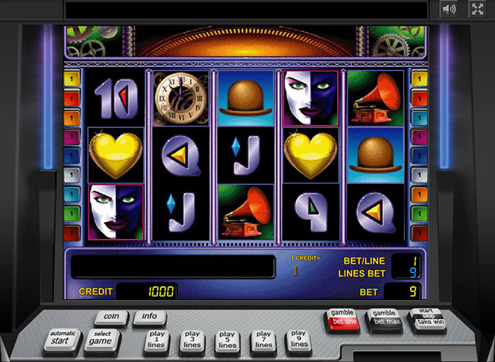 Бонус игра на автомате Queen of hearts Сердца - YouTube