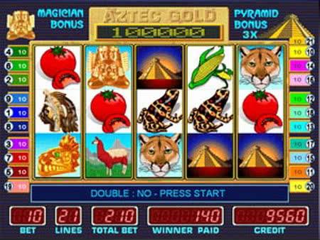 Игровой автомат Aztec Gold пирамидки,
